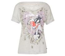 T-Shirt 'Tweety & Sylvester' grau / mischfarben