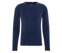 Pullover Masche' blau