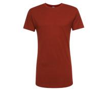 T-Shirt 'Shaped Long Tee' rostrot
