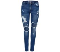 Skinny Fit Jeans 'Carmen Reg Big Hole' blue denim