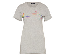 T-Shirt mit Print 't-Sully-Long-I' grau