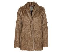 Fake Fur Mantel 'Vigilia' braun