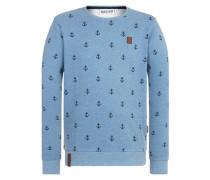Sweatshirt 'Fuck being modest' blau
