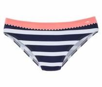 Bikini-Hose navy / neonpink / weiß