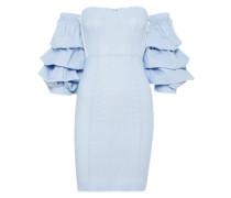 Kleid 'bustier' blau / weiß