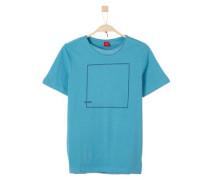 T-Shirt mit Grafik-Print türkis