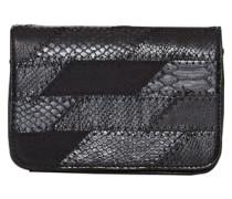 Kleine Umhängetasche im Patch-Style schwarz