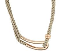 Halskette aus geflochtenem Textil Jpnl10593D420