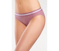 Bikinislips (3 Stück) mit sportlichen Logobund anthrazit / pflaume / rosé