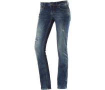 Aspen Straight Fit Jeans Damen blau