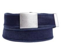 Canvas-Gürtel mit Koppelschloss dunkelblau