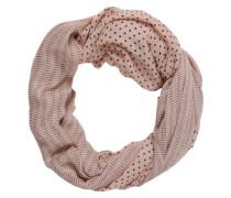 Schal mit Punktemuster rosa / schwarz