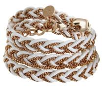 Armband zum Wickeln »B-long braid cord & chain 475.009.004« gold