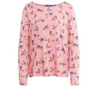 Shirt / Blouse gemusterte Bluse rosa