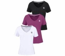T-Shirt lila / schwarz / weiß