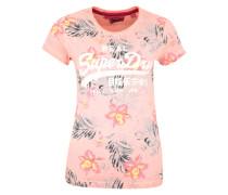 Shirt 'Hibiscus' mischfarben / koralle