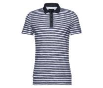 Poloshirt mit Streifen 'Andor' schwarz / weiß