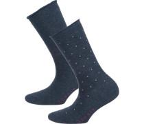 2 Paar Socken marine / naturweiß