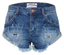 Jeansshort 'Bandits' blue denim
