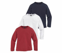 Langarmshirt (Packung 3 tlg.) ultramarinblau / rot / weiß