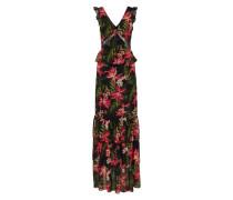Kleid 'astrid' grün / pink / schwarz