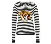 Pullover 'Tiger' mischfarben / schwarz / weiß