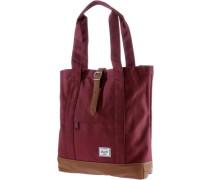 Handtasche 'market' braun / weinrot