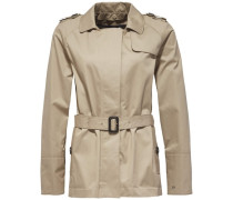 Outdoorjacke 'city Cotton Short Trench' beige