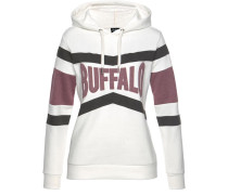 Sweatshirt beere / schwarz / weiß
