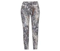 Jeans schwarz / weiß / braun