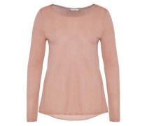 Lurex-Pullover mit Rückenschlitz pink