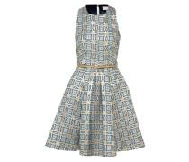 Kleid blau / gold