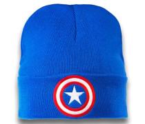 Strickmütze - Captain America – Logo blau