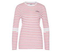 Shirt 'zk-Pf16-033' rot / weiß