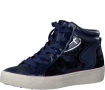 Sneaker im Materialmix navy