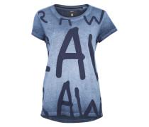Shirt mit Aufdruck blau