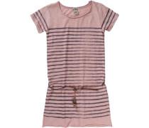 Kinder Jerseykleid dunkelblau / altrosa