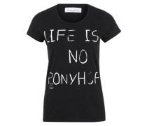 T-Shirt 'ponyhof' schwarz