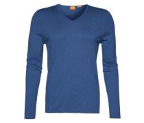 Pullover mit V-Ausschnitt 'Kameross' blau