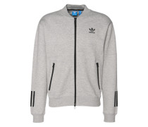 Sweatshirtjacke 'relaxed SST TT' graumeliert