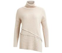 Reißverschluss Pullover beige