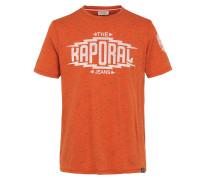 T-Shirt 'Odgy' mandarine / weiß