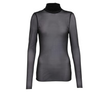 Mesh-Shirt in monochromer Optik schwarz