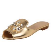 Pantoletten 'Fraydda' gold