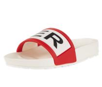 Sandalen 'original Slide' rot / schwarz / weiß