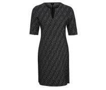 Jacquard-Kleid mit Retromuster