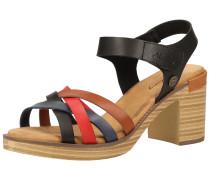 Sandalen rot / schwarz / braun