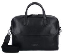 Williamsburg Aktentasche Leder 37 cm Laptopfach schwarz