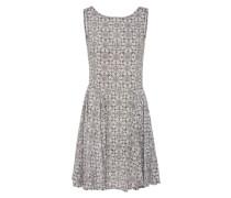 Sommerkleid 'easy Print' schwarz / weiß