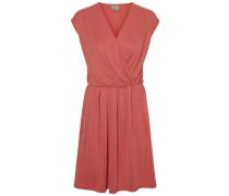 Lässiges Kleid ohne Ärmel pastellrot